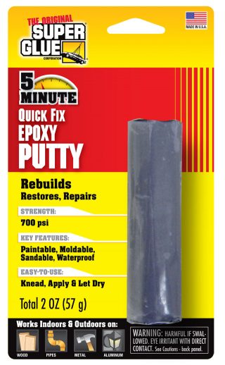 SUPER GLUE CORP - 5 MINUTE EPOXY PUTTY 56g 2oz {pac-prices} [ 80805]