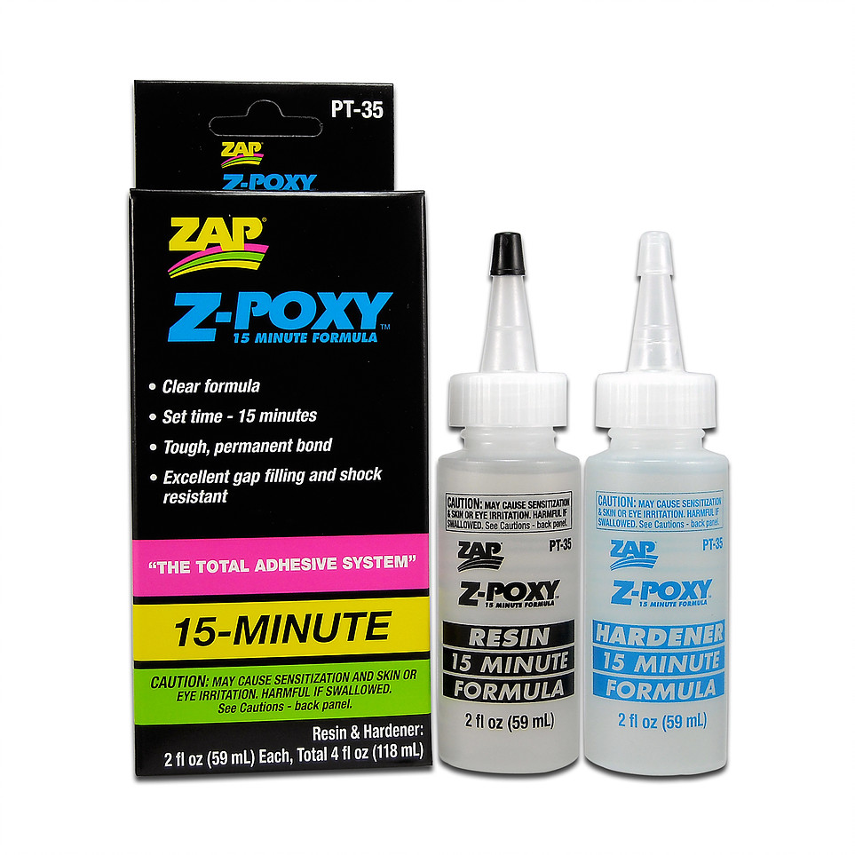 PACER - 15 MINUTE Z-POXY - 118ml 4.0oz BOXED PT-35 {pac-prices} [100100]