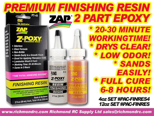 PACER Z-POXY FINISHING RESIN - 354ml 12oz SET PT40 {pac-prices} [ 40408]