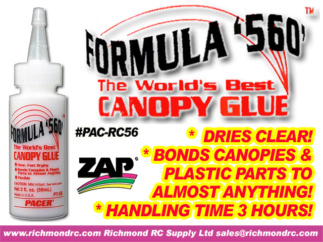 FORMULA 560 CANOPY GLUE DRIES CLEAR FLEXIBLE PT-56 {pac-prices} [ 91110]