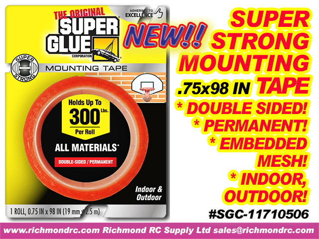 SUPER STRONG MOUNTING TAPE 19mmX2.5m ROLL .75x98in {pac-prices} [ 40410]