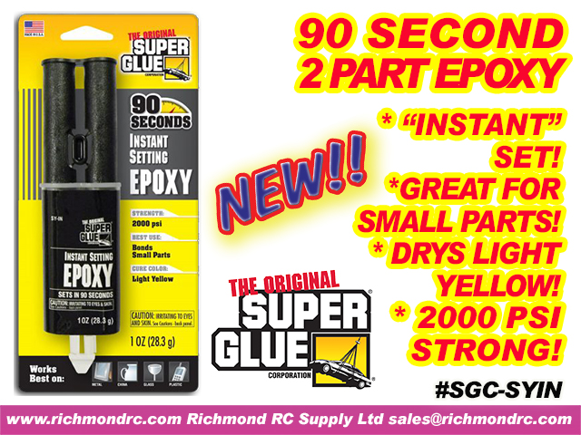 SUPER GLUE CORP - 90 SECOND EPOXY SYRINGE 28ml 1oz {pac-prices} [ 40409]