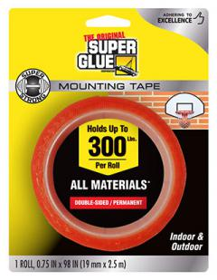 SUPER STRONG MOUNTING TAPE 19mmX2.5m ROLL .75x98in {pac-prices} [ 70606]