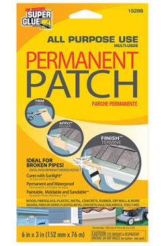PERMANENT PATCH - OFF WHITE 150mm x 75mm (6 x 3in) {pac-prices}