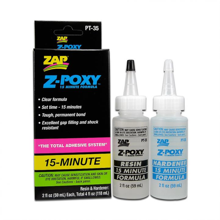 PACER - 15 MINUTE Z-POXY - 118ml 4.0oz BOXED PT-35 {pac-prices}