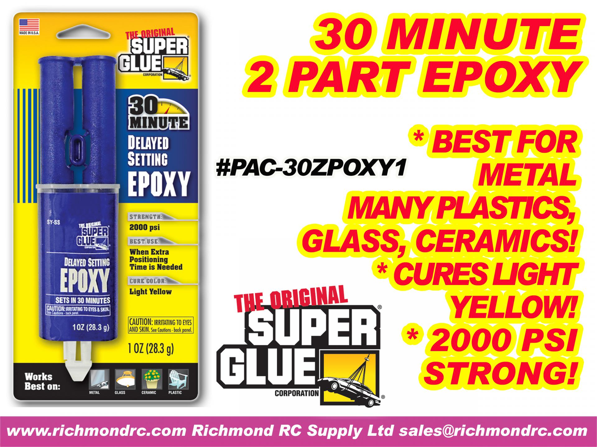 PACER - 30 MINUTE ZPOXY IN SYRINGE - 28ml 1oz SG01 {pac-prices}