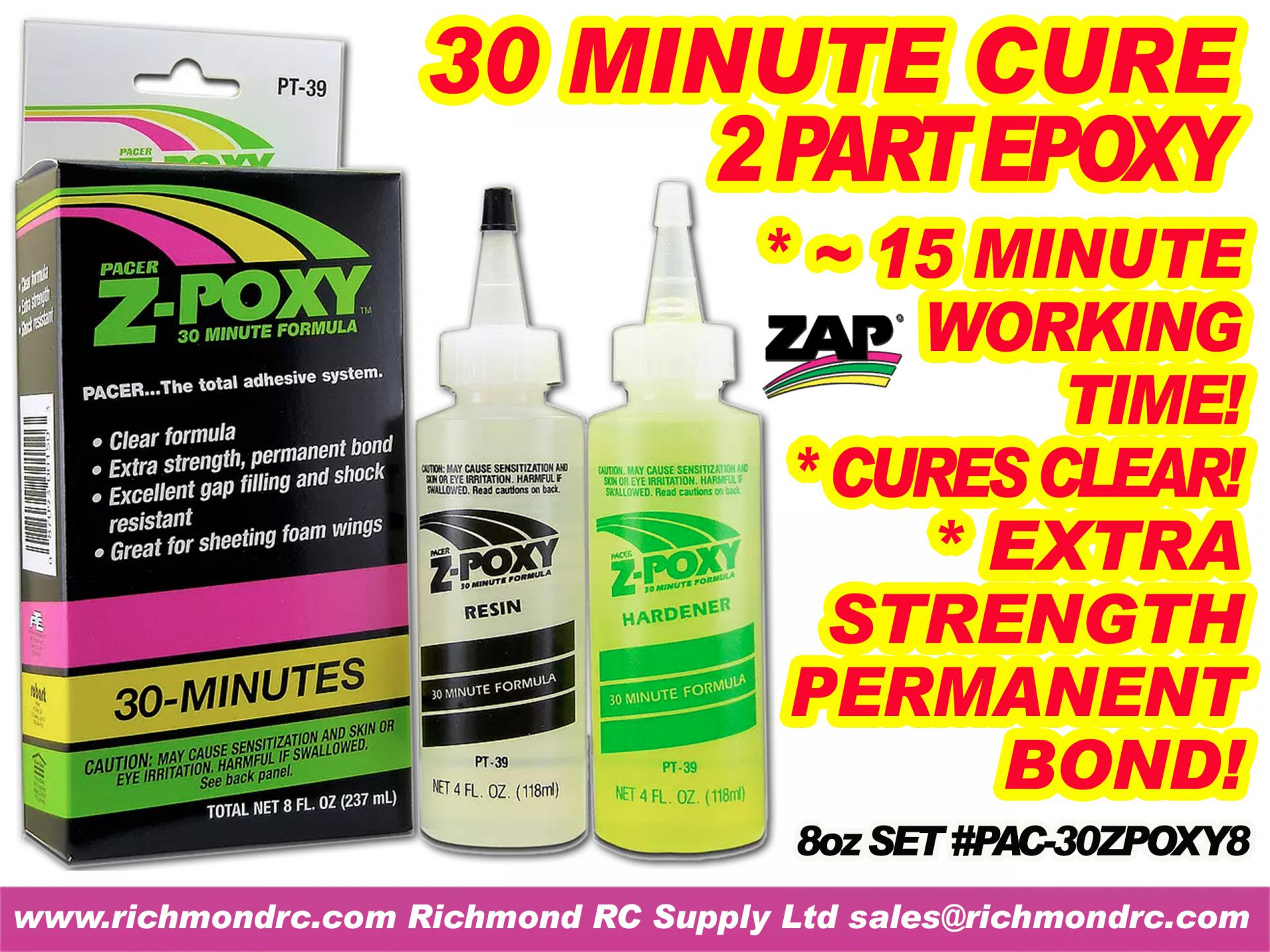 PACER - 30 MINUTE ZEPOXY - 236ml 8.0oz BOXED PT-39 {pac-prices} [ 72214]