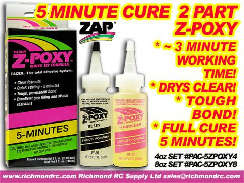 PACER -  5 MINUTE Z-POXY - 236ml 8.0oz BOXED PT-38 {pac-prices}