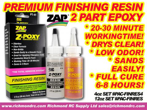 PACER Z-POXY FINISHING RESIN - 354ml 12oz SET PT40 {pac-prices} [ 72209]