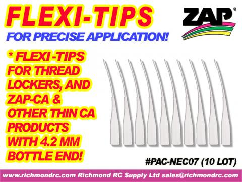 FLEXI-TIPS FOR ZAP/CA (THIN/PINK) & THREDLOCK (10) {pac-prices}