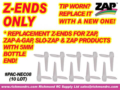 Z-ENDS ONLY FOR ZAP, ZAP-A-GAP ETC        (10/BAG) {pac-prices}