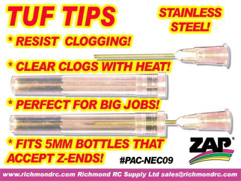 TUF TIPS - STEEL TIPS FOR CA+ & 5MM ENDS (2) {pac-prices}