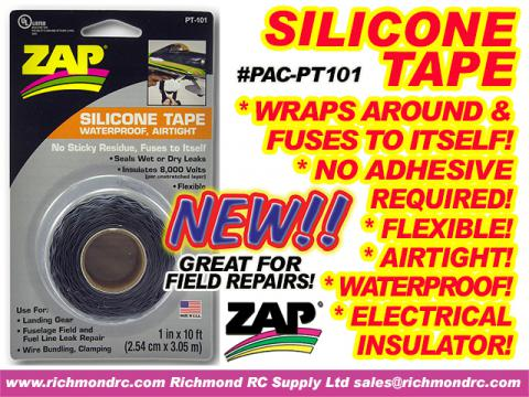 ZAP SILICONE TAPE - MULTIPURPOSE BLACK - 1inX10ft {pac-prices} [ 21607]