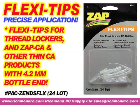 FLEXI-TIPS FOR ZAP/CA (THIN/PINK) & THREDLOCK (24) {pac-prices}