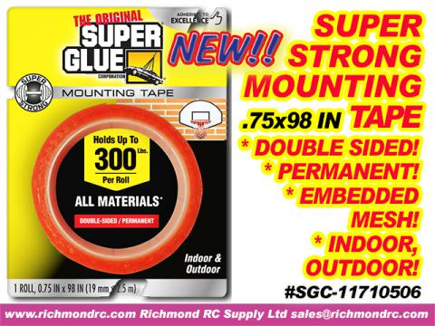 SUPER STRONG MOUNTING TAPE 19mmX2.5m ROLL .75x98in {pac-prices} [ 61012]