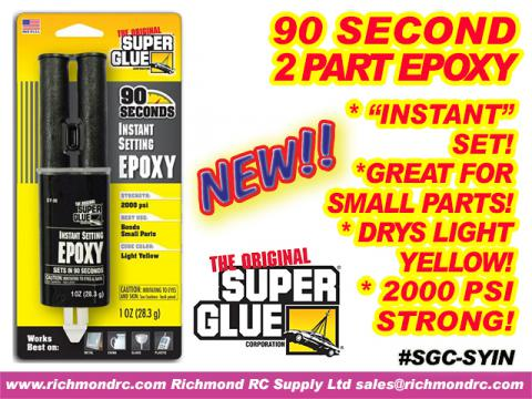 SUPER GLUE CORP - 90 SECOND EPOXY SYRINGE 28ml 1oz {pac-prices}