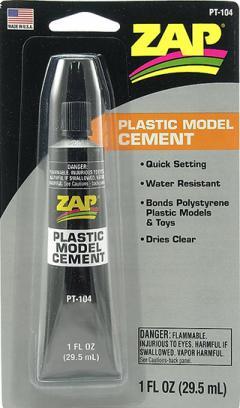 ZAP PLASTIC MODEL CEMENT (FOR STYRENE) 29.5ml 1oz {pac-prices}