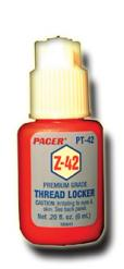 PACER Z42 THREADLOCKER FOR METAL - 6ml .2 oz PT-42 {pac-prices}