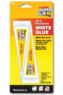 SUPER GLUE CORP - CRAFTS WHITE GLUE 2 TUBES 10g