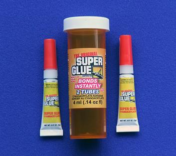 SUPER GLUE CORP - CYANO CA FAST 2 TUBES 2ml .07oz