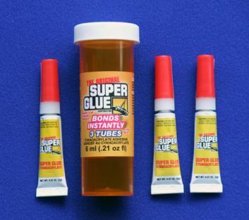 SUPER GLUE CORP - CYANO CA FAST 3 TUBES 2ml .07oz
