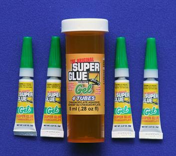 SUPER GLUE CORP - CA+++ GEL 4 TUBES 2ml .07oz