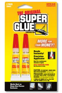 SUPER GLUE CORP - CYANO 2 TUBE 2ml - NOT FOR CHILD