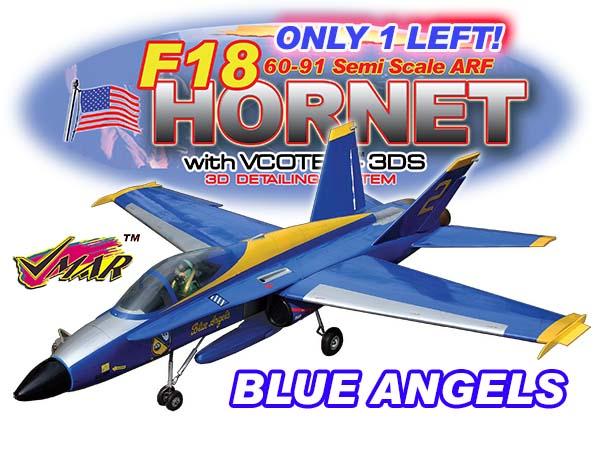 VMAR F18 HORNET 60-91 JET (PROP) ARF 3DS - BLUE  [ 91106]