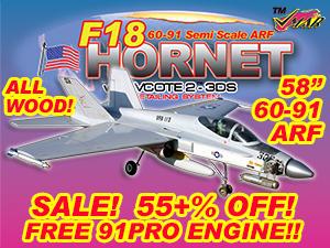 VMAR F18 HORNET 60-91 JET (PROP) ARF 3DS - US NAVY  [111121]