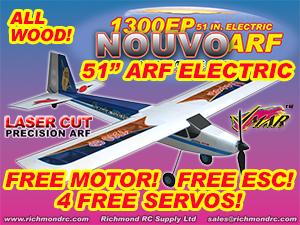 VMAR NOUVO 1300 EP ARF ECS - 51in ELECTRIC - BLUE  [106183]