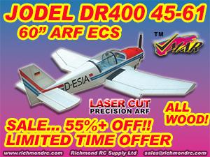 VMAR JODEL DR400 45-61 SEMISCALE ARF ECS  [121023]