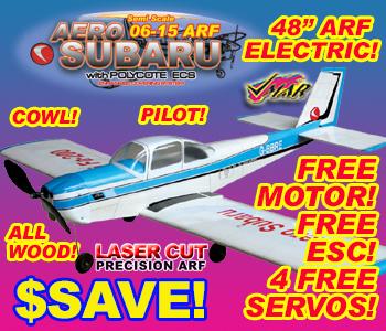 VMAR AERO SUBARU 06-15 ARF ECS ELECT & GLOW - BLUE  [100060]