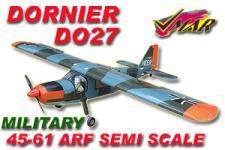 VMAR DORNIER D027 60 SEMISCALE ARF ECS - MILITARY
