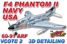 VMAR F4 PHANTOM II 60-91 JET (PROP) ARF 3DS USNAVY