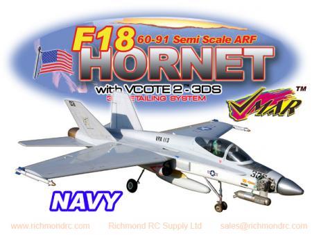 VMAR F18 HORNET 60-91 JET (PROP) ARF 3DS - US NAVY