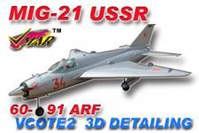 VMAR MIG 21 60-91 JET (PROP) ARF 3DS - USSR