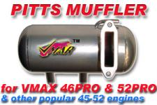 VMAR PITTS IN COWL MUFFLER VMAX 46 & 52 (THREADED)