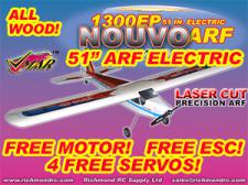VMAR NOUVO 1300 EP ARF ECS - 51in ELECTRIC - RED