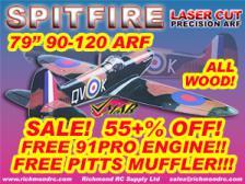 VMAR SPITFIRE 90-120+ SEMISCALE ARF - BRITISH