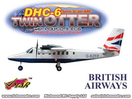 VMAR TWIN OTTER 09-15 ARF ECS ELECTRIC - WHITE
